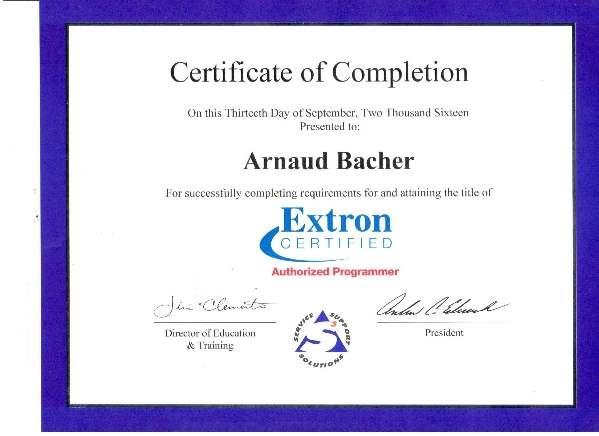 Extron - Arnaud Bacher 2016