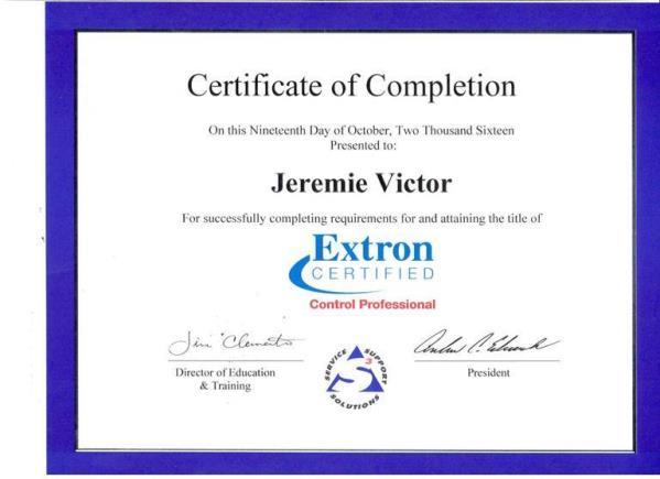 Extron - Jérémie Victor 2016